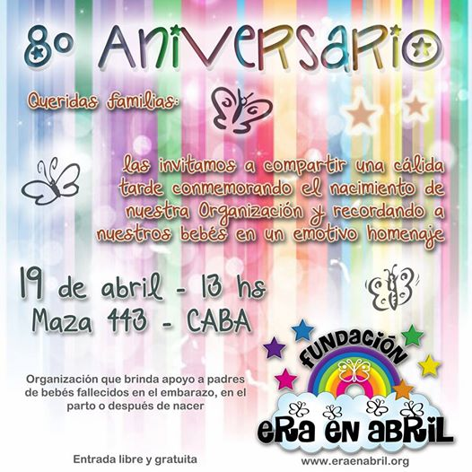 19/4/15: LOS INVITAMOS AL 8° ANIVERSARIO DE LA FUNDACIÓN ERA EN ABRIL. 10636210