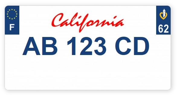 Plaques immatriculation format US Plaque11