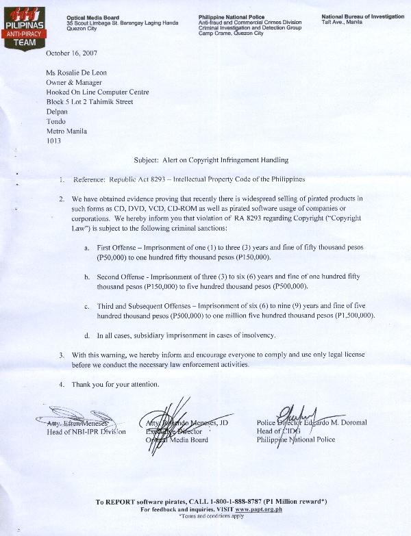 PNP Letter Pnp_le10