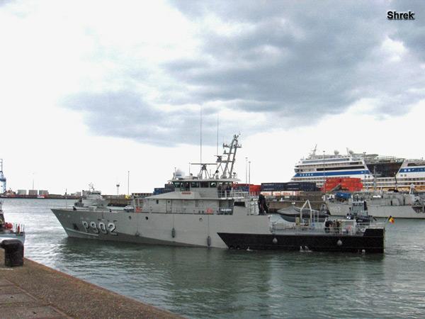 Arrivée du P902 POLLUX à Zeebrugge P902ep10