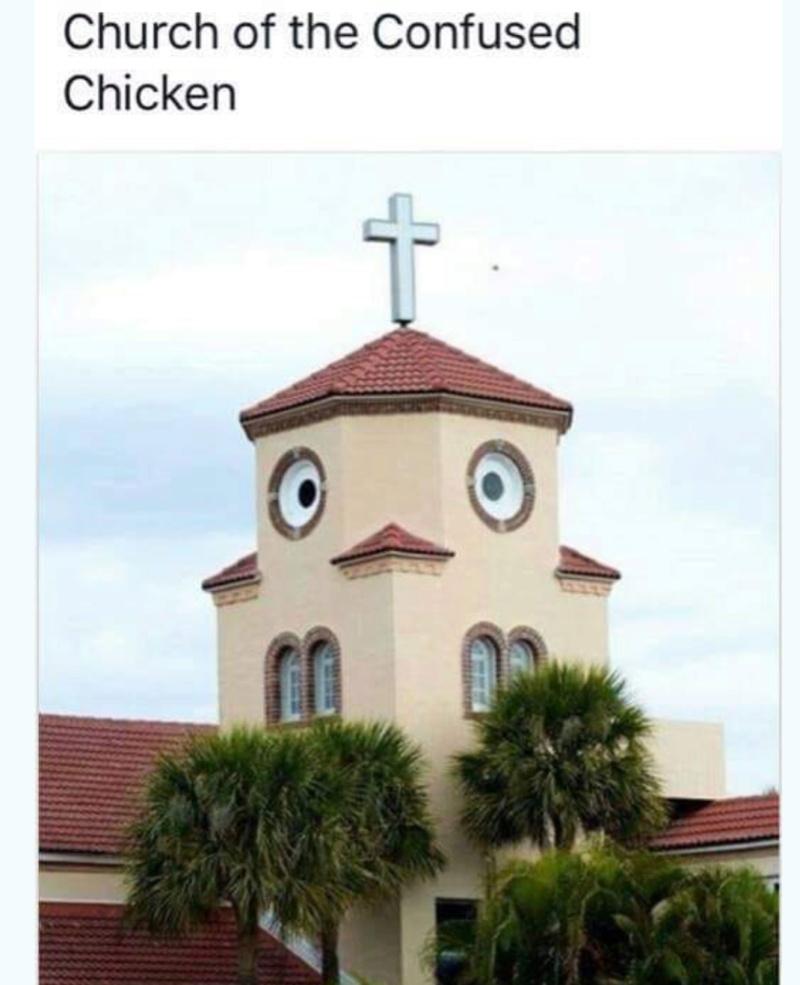 """l'église du """"poulet confus"""" 18276010"""