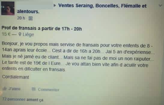 annonce soutien scolaire français avec prof confirmé Prof_f10