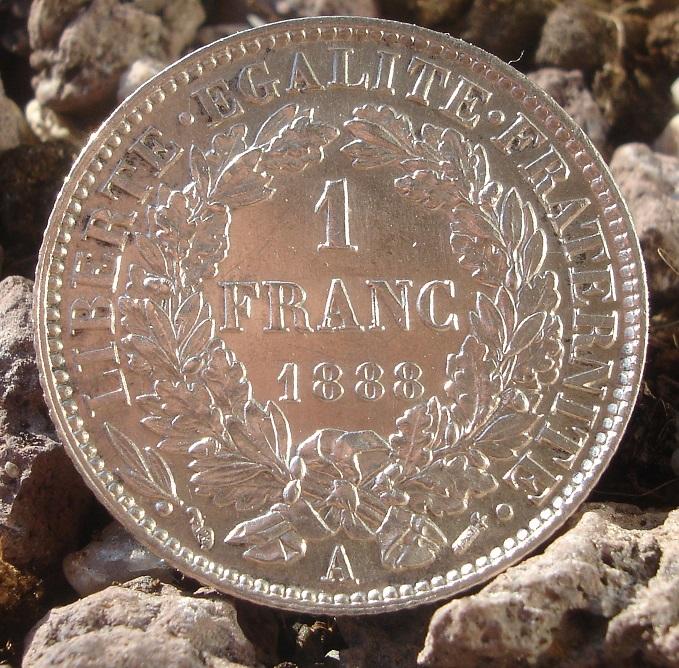 """1 Franc """"Ceres"""". Francia. 1888. Paris Dsc09443"""
