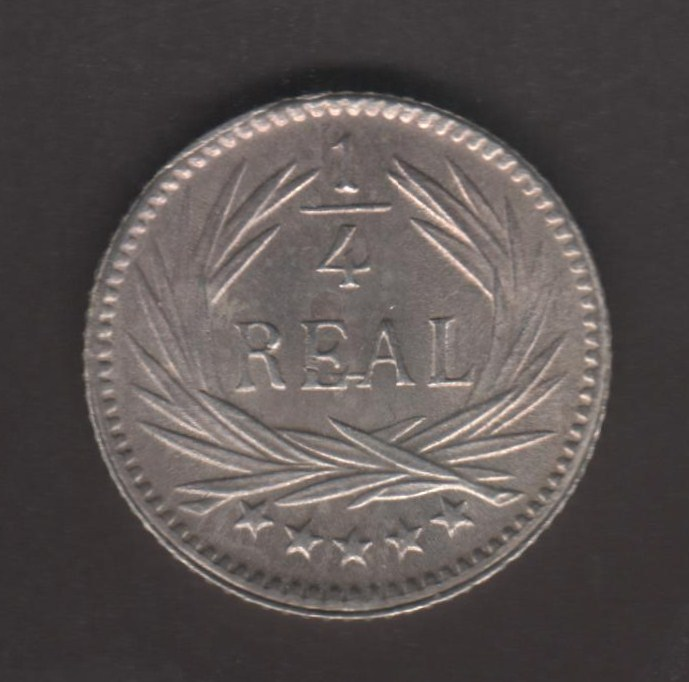 1/4 Real. Guatemala. 1896 Guatem11