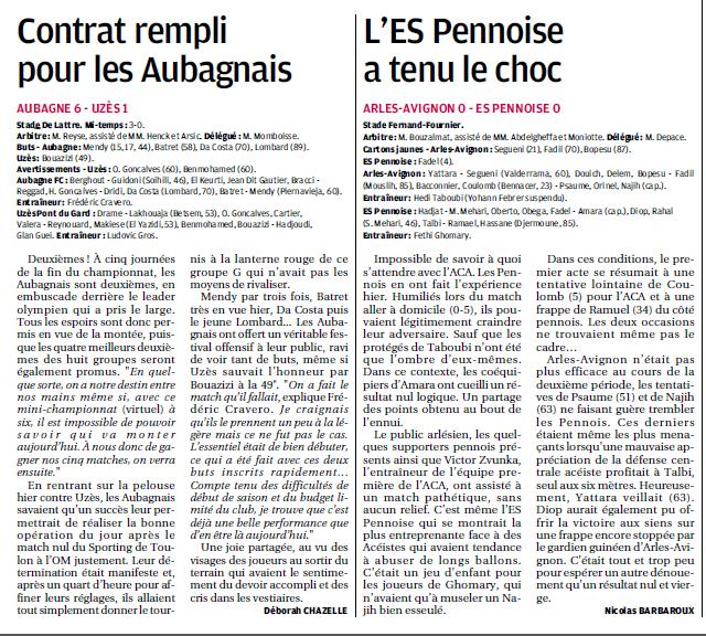 ES UZES PONT-DU-GARD // CFA2 GROUPE G SUD EST  - Page 8 511