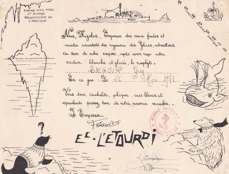 [Les traditions dans la Marine] Passage du cercle polaire (Sujet unique) - Page 3 Certif11