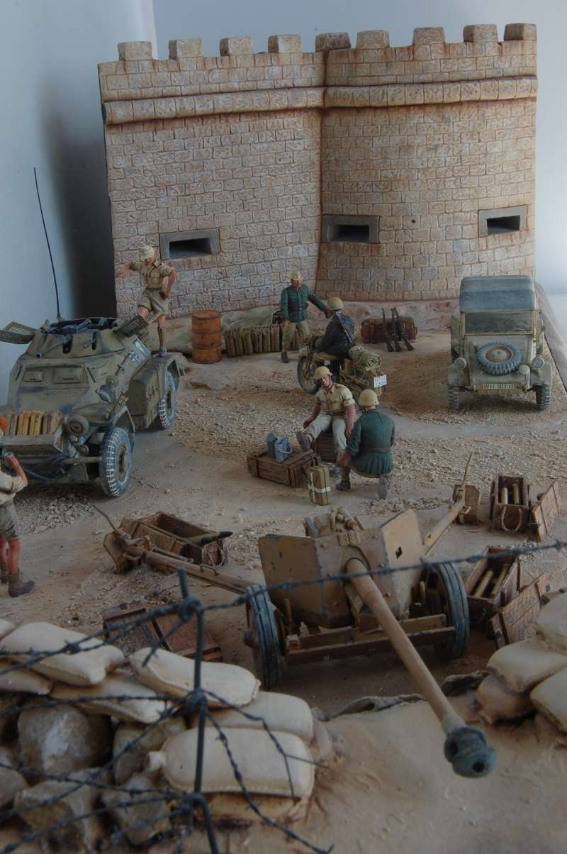De Tobruk à El Alamein - Octobre 42 - Maquettes Tamiya et Italeri - Figurines MK35 - 1/35e Tobruk35