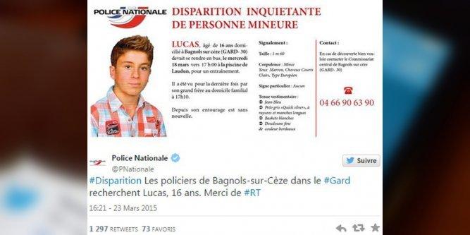 Gard : disparition inquiétante d'un adolescent de 16 ans à Bagnols-sur-Cèze La-pol10