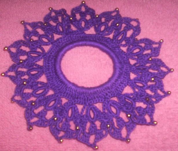 Doilies I have beaded Purple10