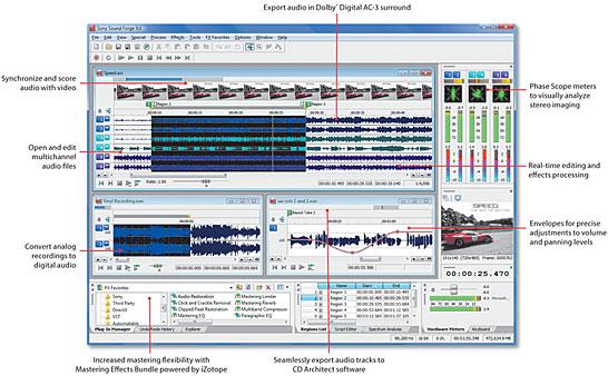 أفضل برنامج للصوتيات و الفيديو ...sound forge 9.0  Soundf10