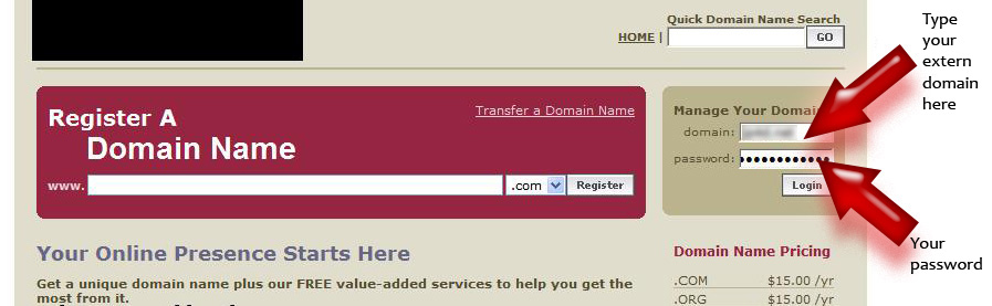 CNAME - [CNAME] Redirect an extern domain name that you own to your board 110