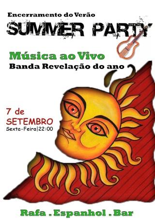 Festa fim de verão Cartaz11