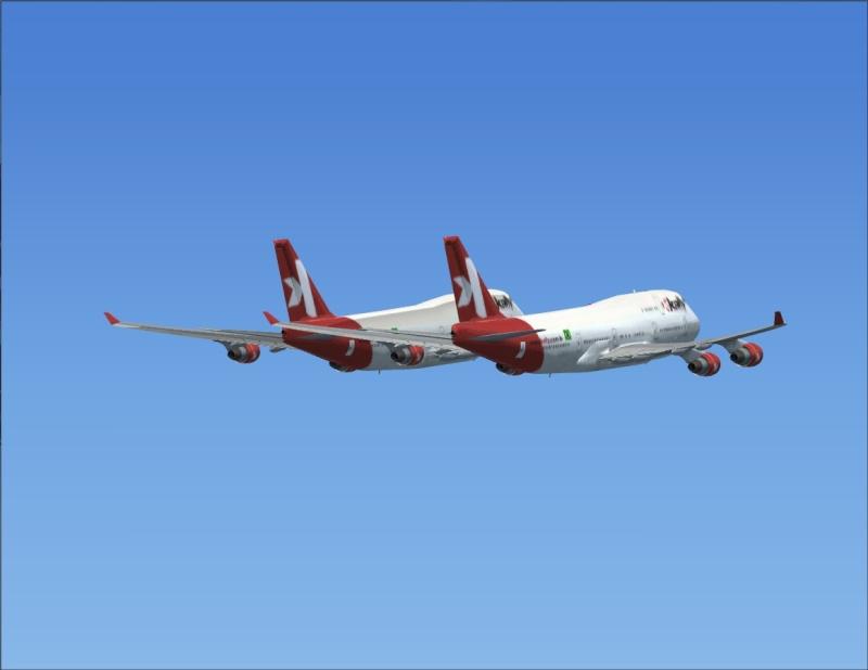 Vôo em formação 747-400 2007-110