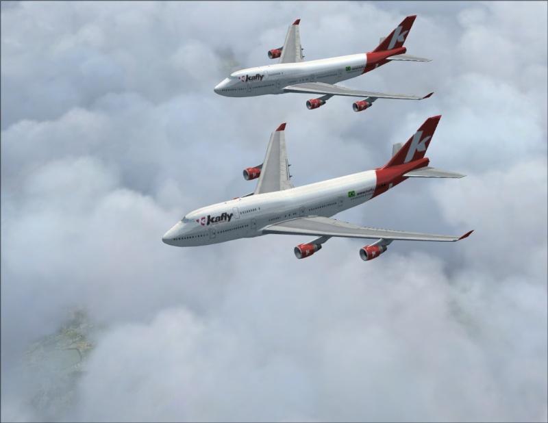 Vôo em formação 747-400 2007-111
