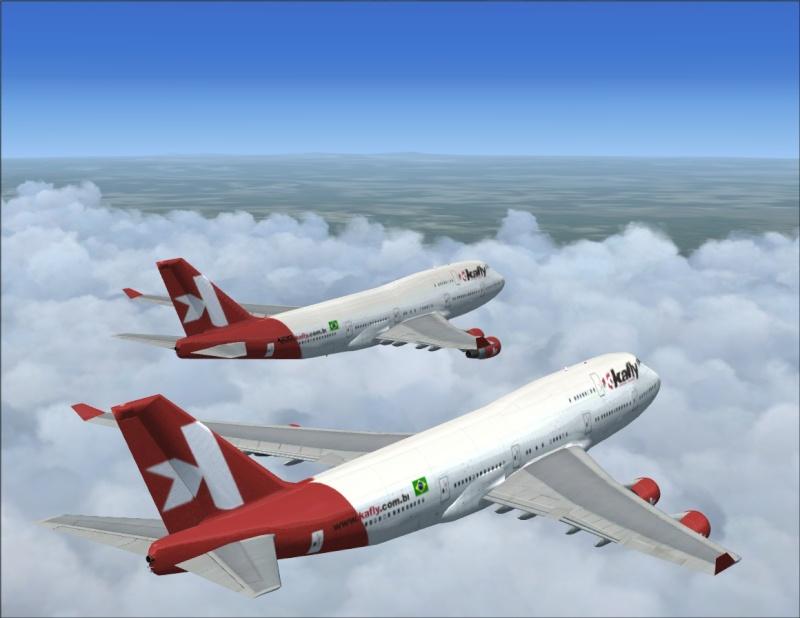 Vôo em formação 747-400 2007-112