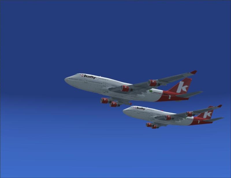 Vôo em formação 747-400 2007-113
