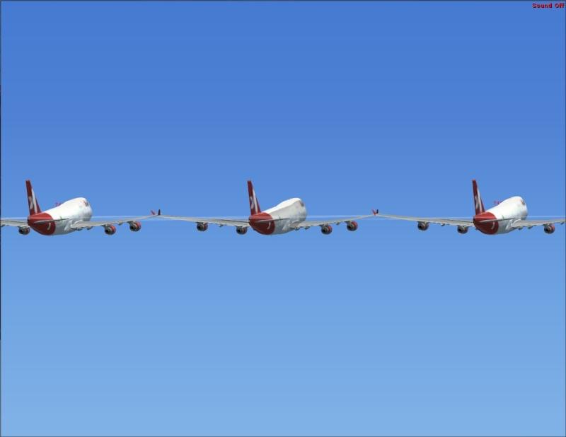Vôo em formação 747-400 2007-114