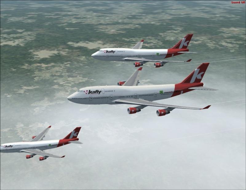 Vôo em formação 747-400 2007-115