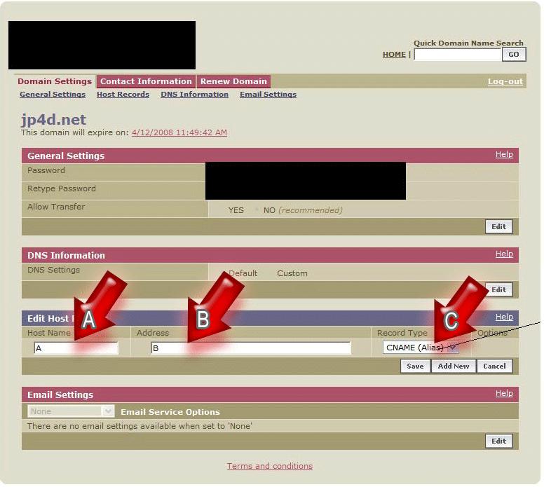 [CNAME] Reindirizzare un nome di dominio esterno di tua proprietà 310
