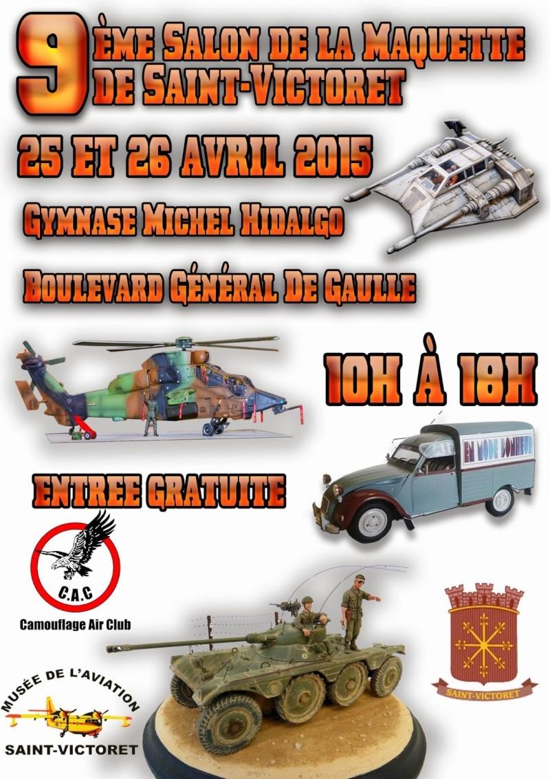 9ème Salon de la maquette de SAINT VICTORET 25 et 26 Avril 2015 (ANNULEE ) Affich10