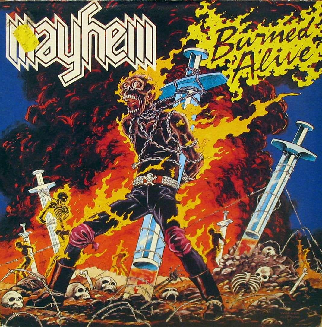 MAYHEM Burned alive (1987) Thrash A3542810
