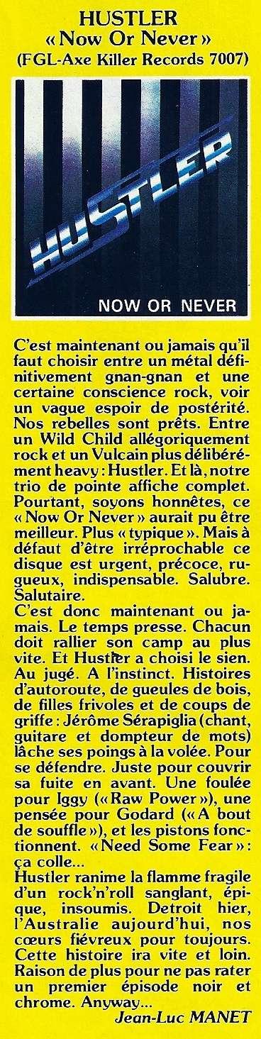 HUSTLER No Or Never (1985) France  Numyri10
