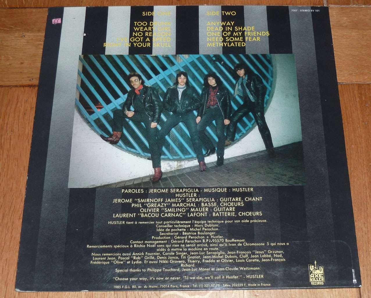 HUSTLER No Or Never (1985) France  P1170314