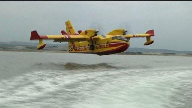 vidéo en immersions, au sein des pilotes de cl 415  Canada10