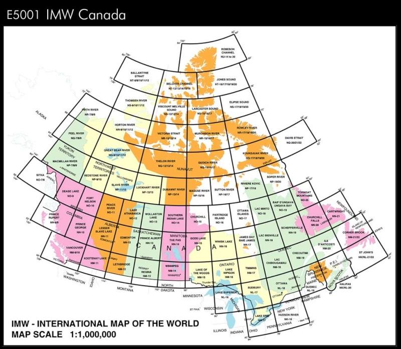 Carte Internationale du Monde au 1/ 1 000 000 ème E5001l10