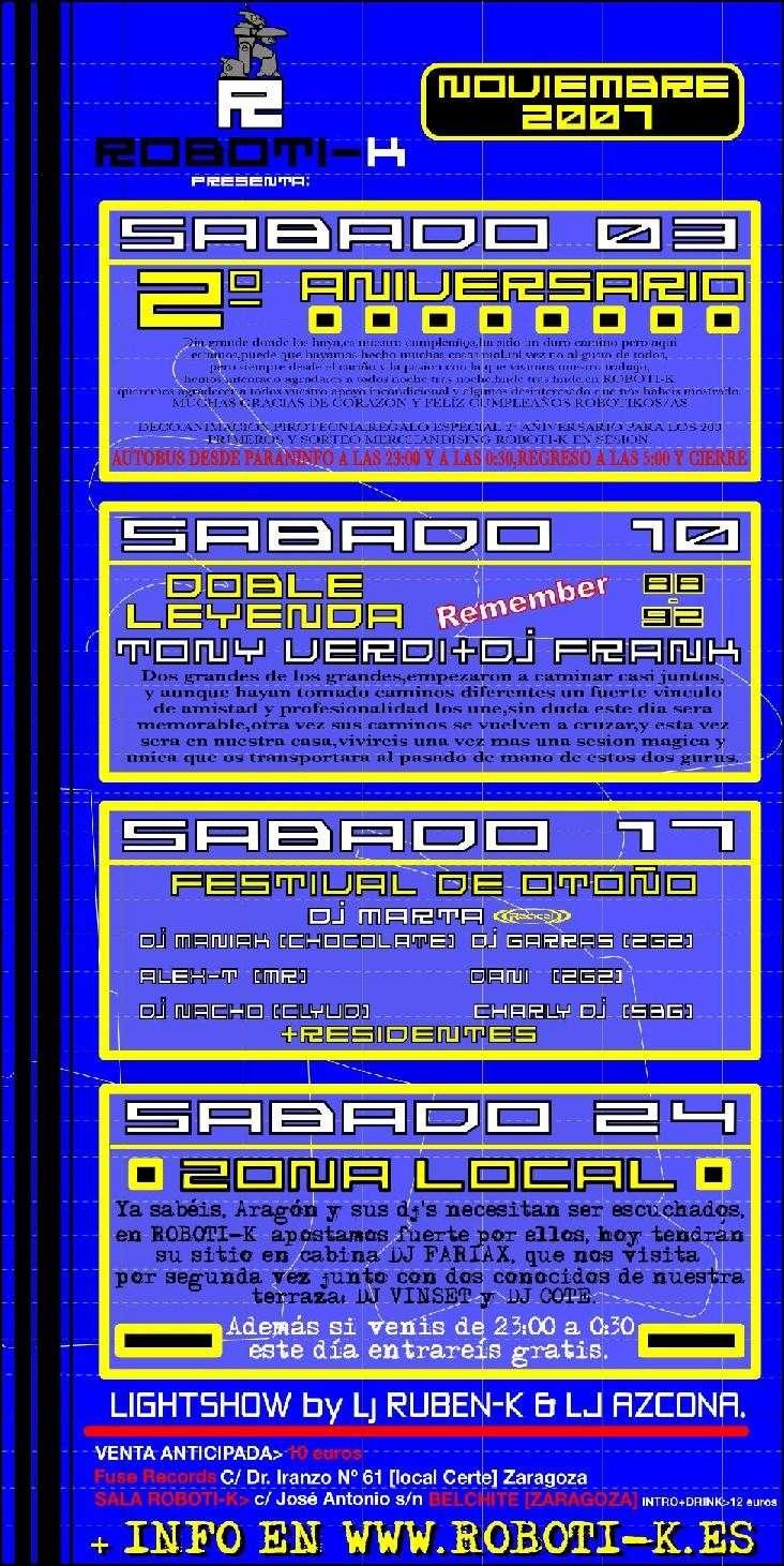 Programación Noviembre de la sala Roboti-k Roboti10