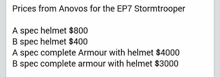 Anovos Star Wars - The Force Awakens Stormtrooper amor 11178310