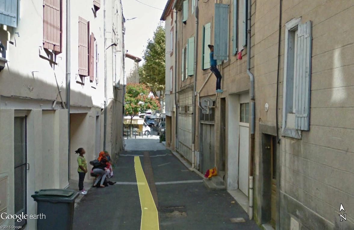 STREET VIEW : scène insolite à Mazamet Maz_110