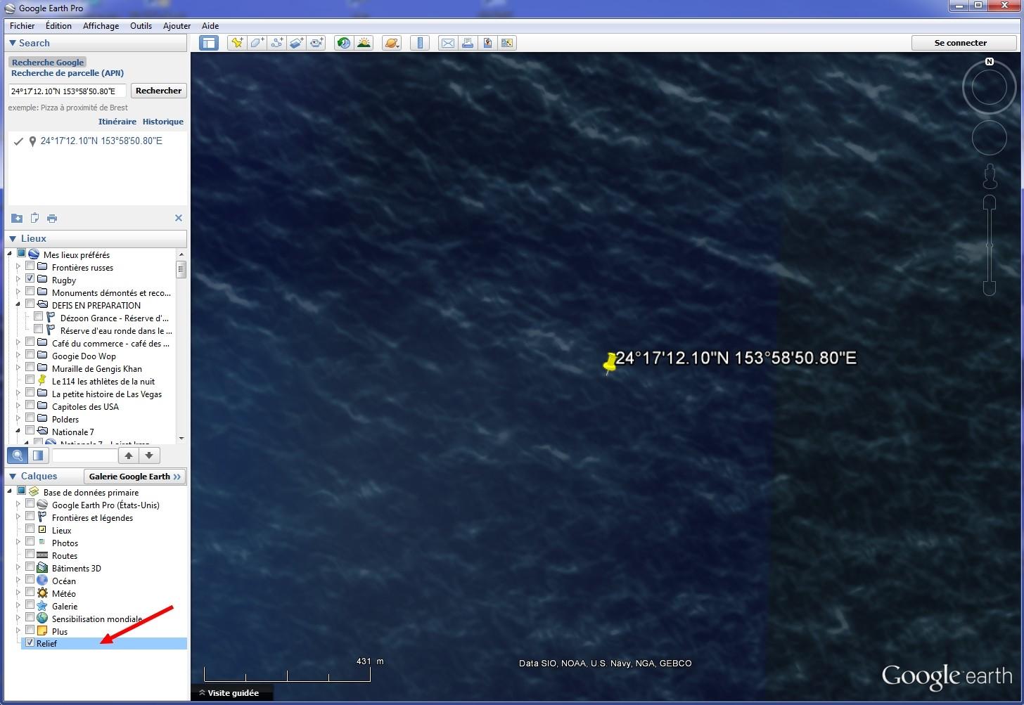 Disparition d'une île (Minamitorishima) - Océan Pacifique Relief10