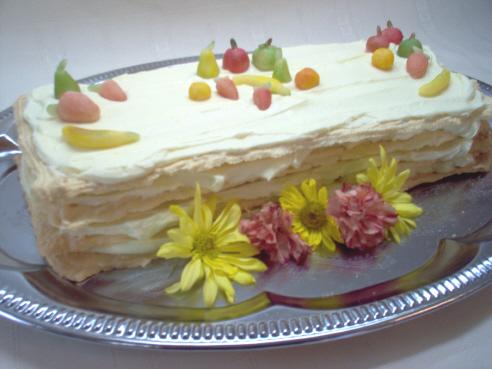Gâteau meringué à la crème d'orange Gato110