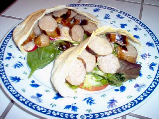 Sandwiches pitas à la saucisse Pitas10