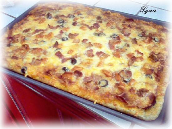 Pizza, pâte à la machine à pain Pizzab10