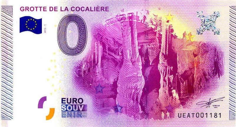 Billets 0 € Souvenirs = 75 Cocali10