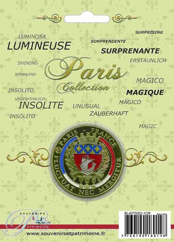 Médaille 40mm sous Blister Paris_15