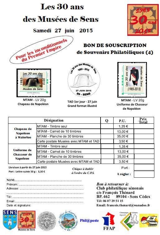89 - Sens - Club Philatélique Sénonais Sens410