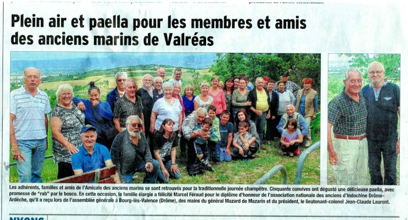 [ Associations anciens Marins ] Amicale des Anciens Marins du Canton de Valreas 84 Paella10