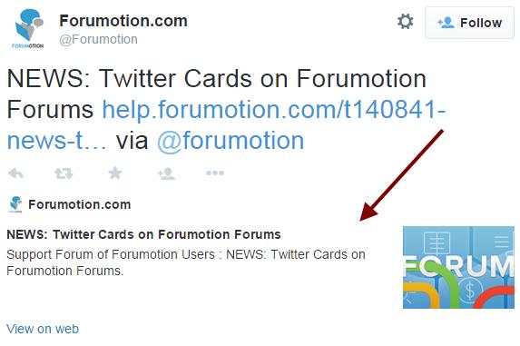Actualizare noua: Buton și carduri Twitter, disponibile pentru forumurile Forumgratuit Card10