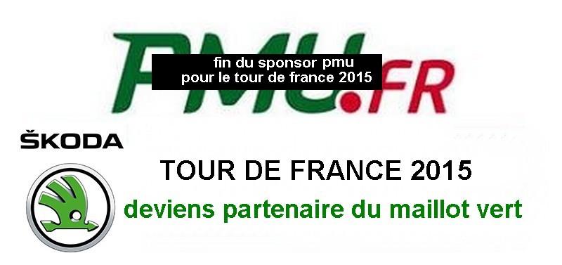Changements de partenaires du Tour de France 2015 Pmu10