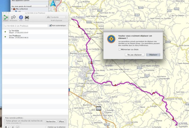 Tracé du roadbook sur BaseCamp Captur24