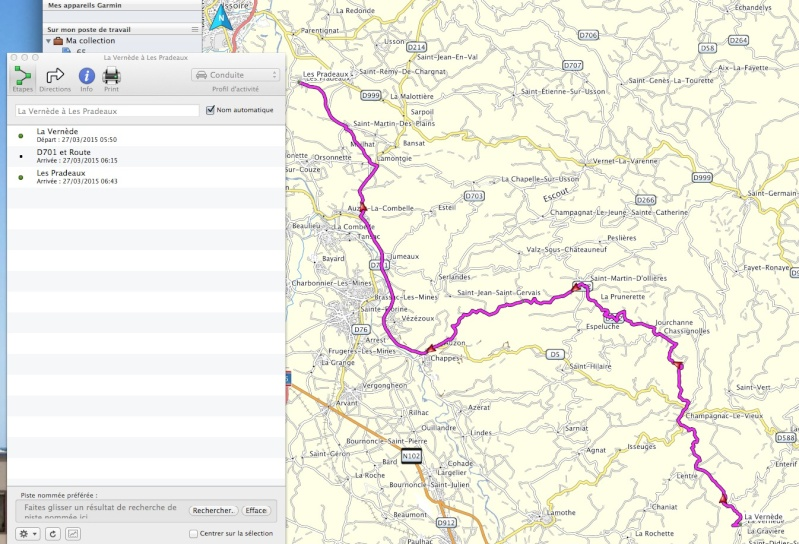 Tracé du roadbook sur BaseCamp Captur25