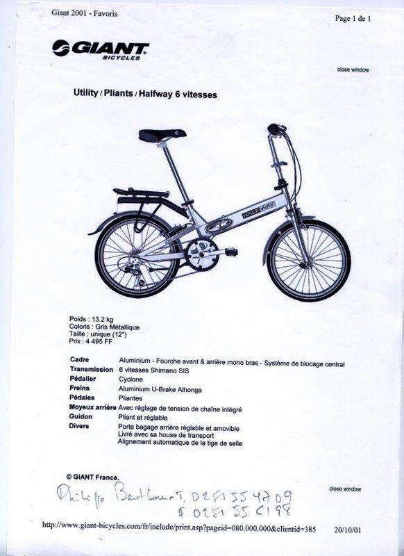 Vélos pliants Giant Halfway 6 vitesses Image10