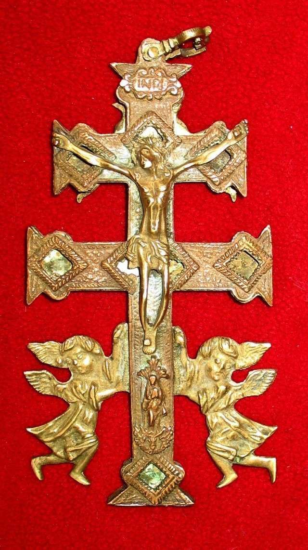 Cruz de Caravaca - Alegoria  leyenda Santa Cruz.  S-XVIII -[Pec011/S-XVIII]* Carava10