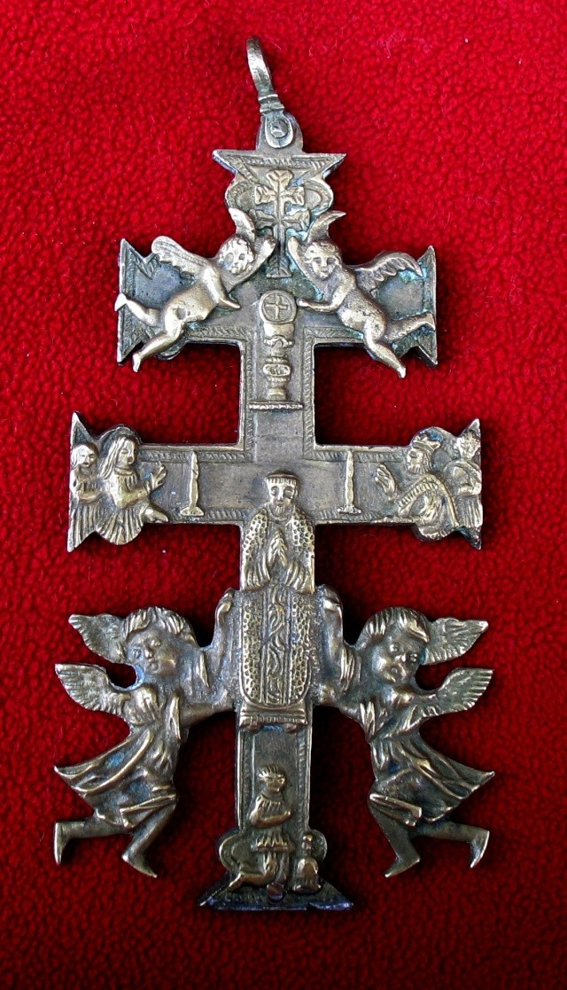 Cruz de Caravaca - Alegoria  leyenda Santa Cruz.  S-XVIII -[Pec011/S-XVIII]* Mai_2010