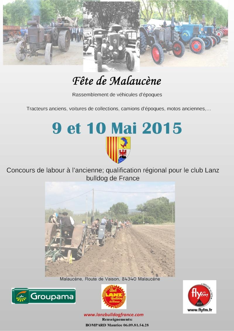 MALAUCENE (84)  les 9 et 10 MAI 2015 Affich11