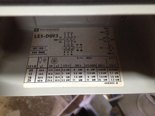 cablage d'un boitier de demarrage LE1-D093 2015-011