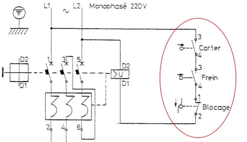 cablage d'un boitier de demarrage LE1-D093 Moteur10